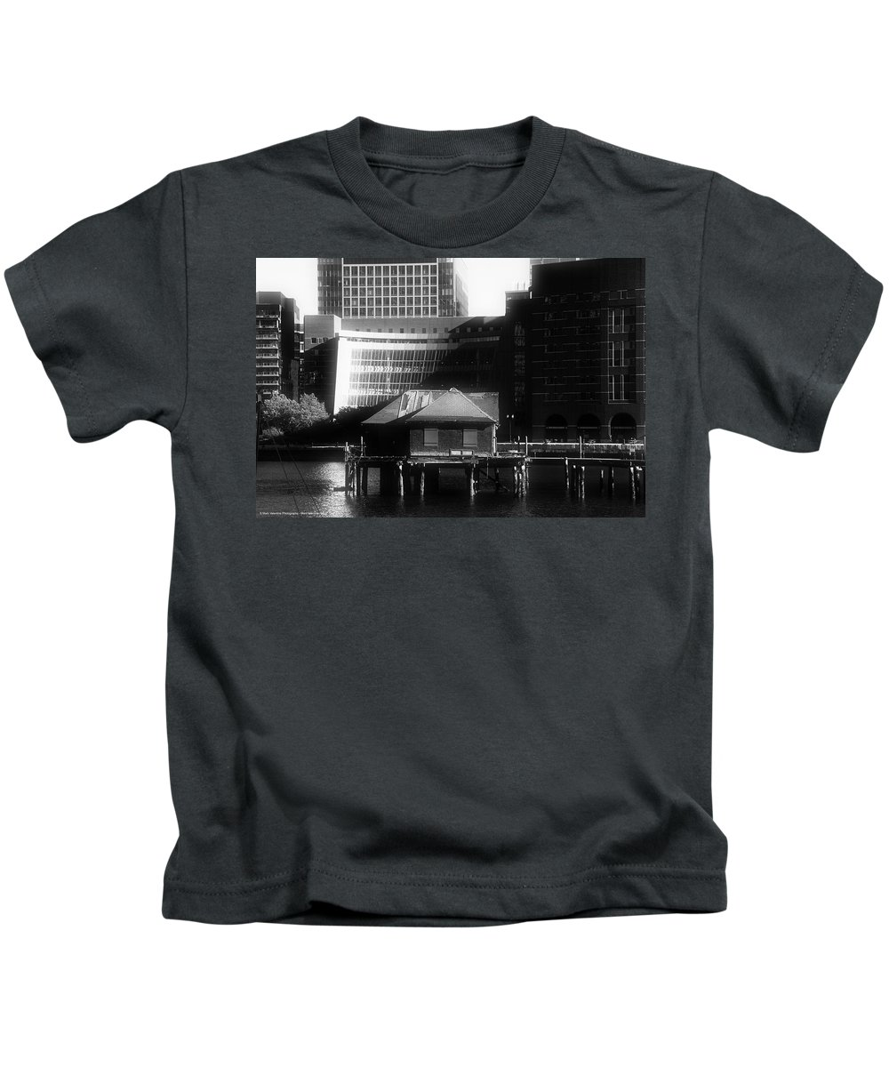 Boston Kids T-Shirt featuring the photograph Boston Fort Point Channel Contrast by Mark Valentine