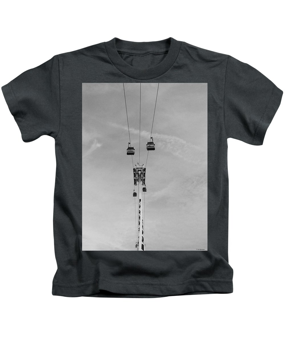 Kids T-Shirt featuring the photograph Cable Carts by Vera De Gernier