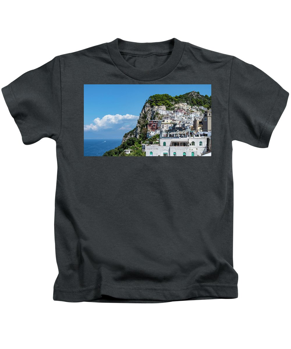 Island Kids T-Shirt featuring the photograph Capri Town by Jim Chamberlain