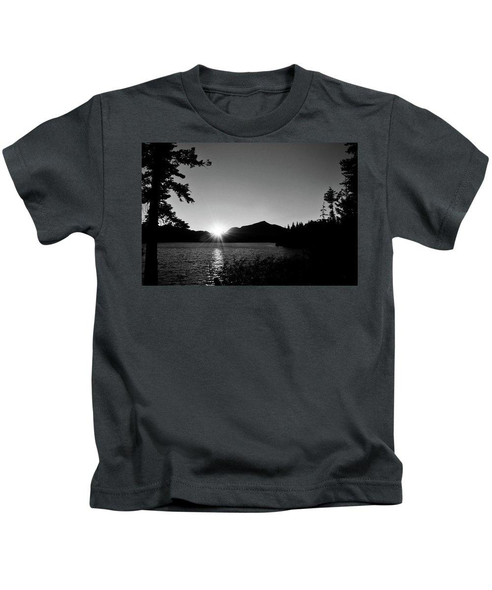Sunset Kids T-Shirt featuring the photograph Cascade Sunset by Sally Falkenhagen