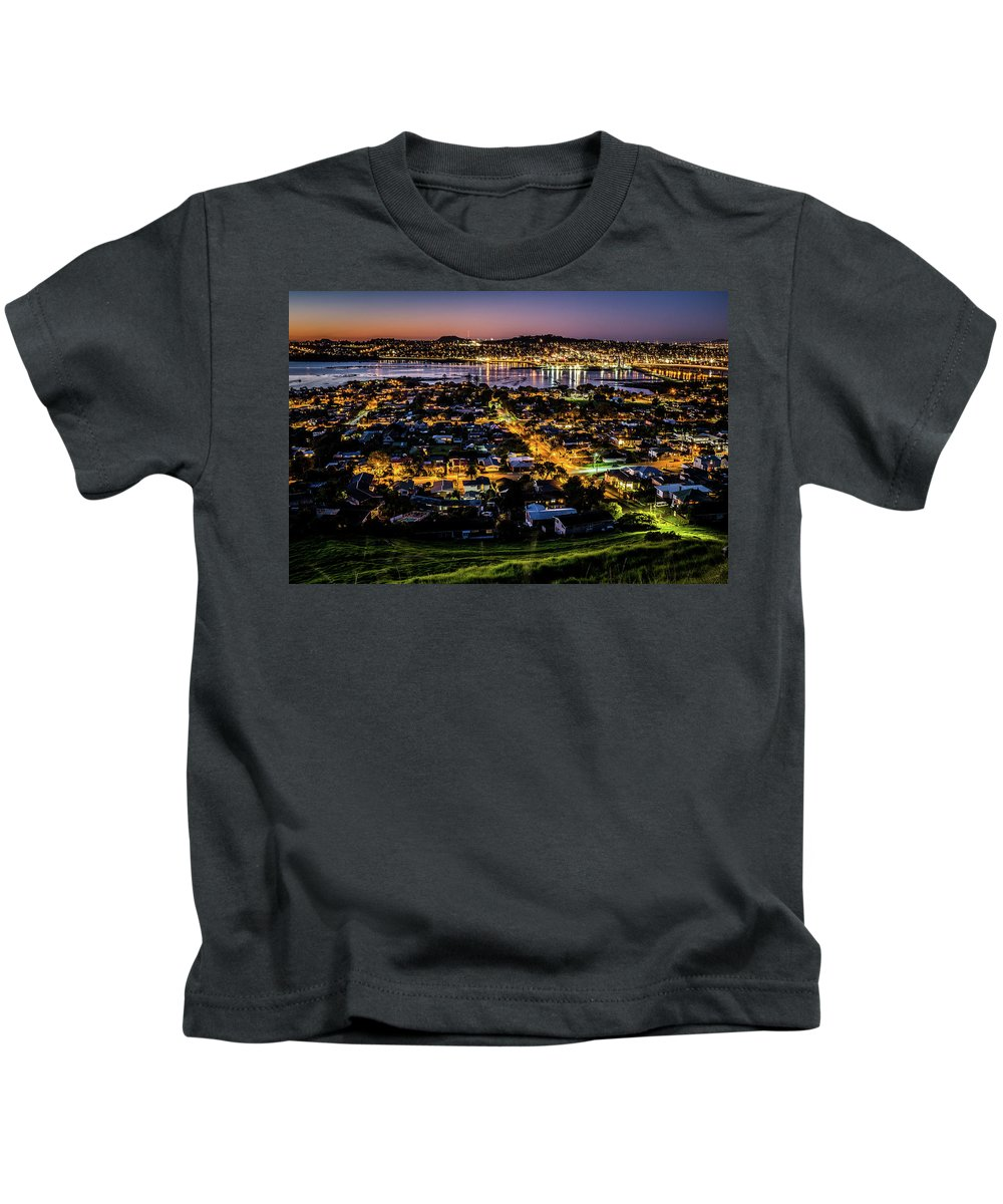 Landscape Kids T-Shirt featuring the photograph Cityscape by Prime Magic