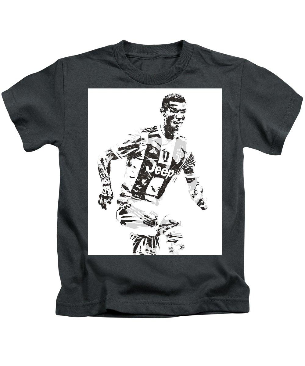 innovative design c4698 d5272 Cristiano Ronaldo Juventus Pixel Art 3 Kids T-Shirt