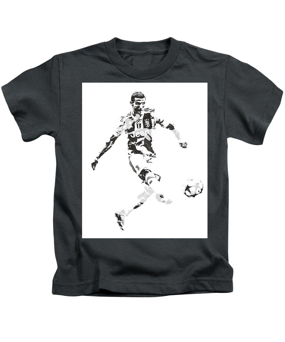 Cristiano Ronaldo Juventus Pixel Art 4 Kids T-Shirt for Sale by Joe Hamilton 8e9e8f7b3