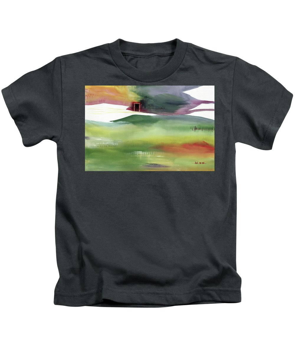 Nature Kids T-Shirt featuring the painting Door 4 by Anil Nene