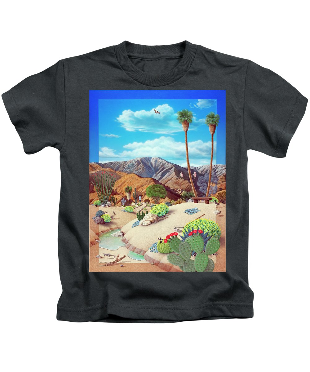 Desert Kids T-Shirt featuring the painting Enchanted Desert by Snake Jagger