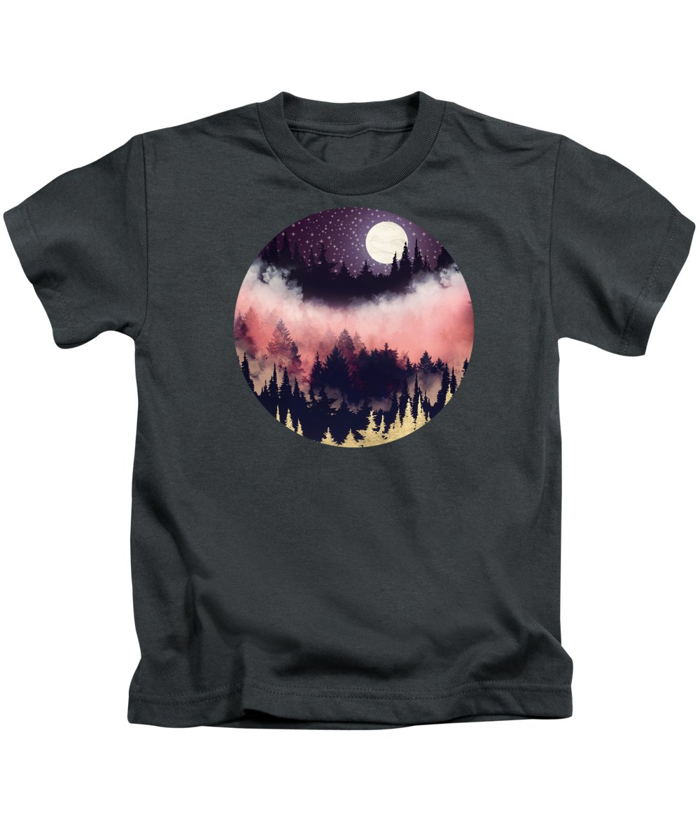 Forest Kids T-Shirt featuring the digital art Evening Glow by Spacefrog Designs