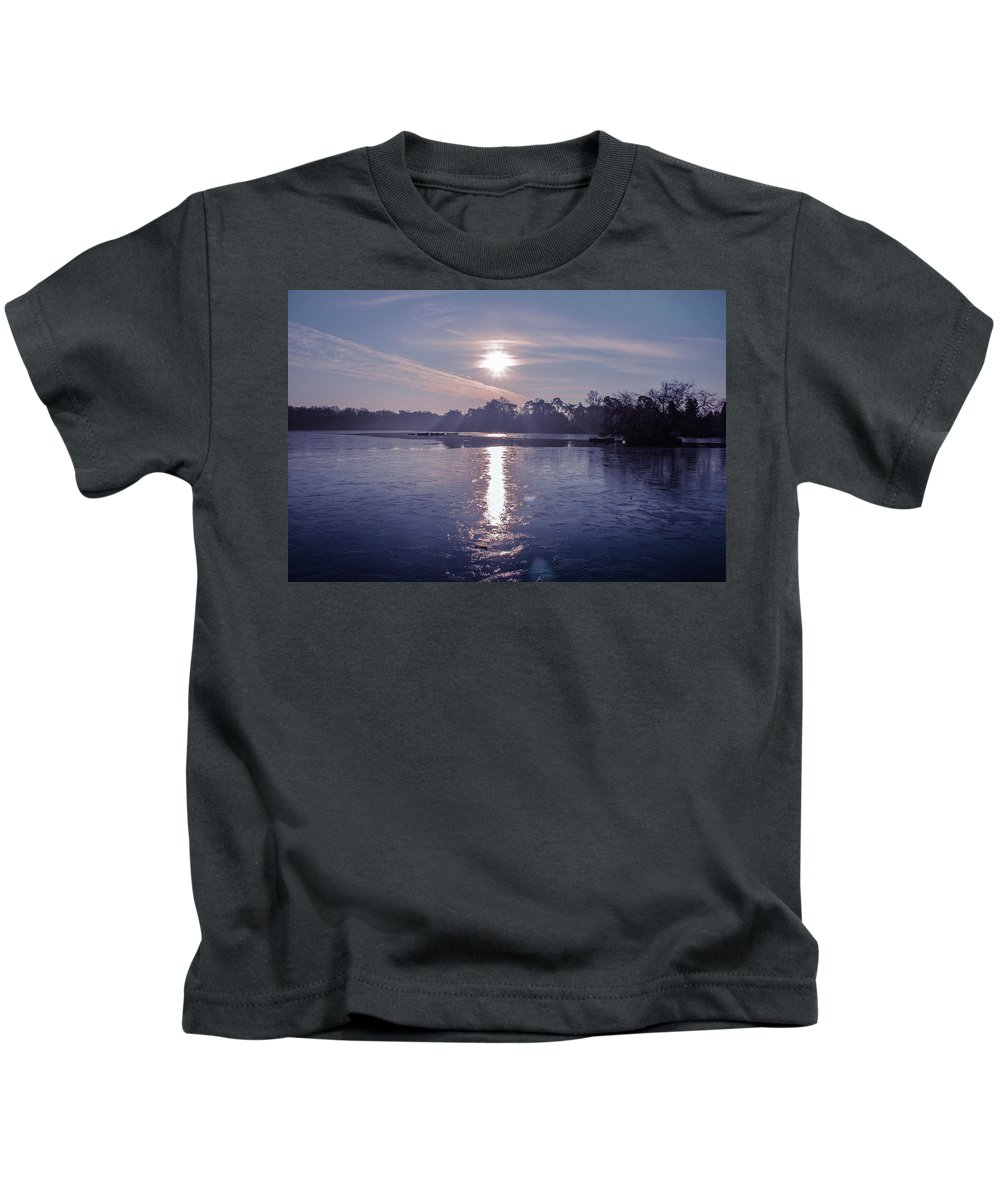Lake Kids T-Shirt featuring the photograph Frozen by Claire Lowe
