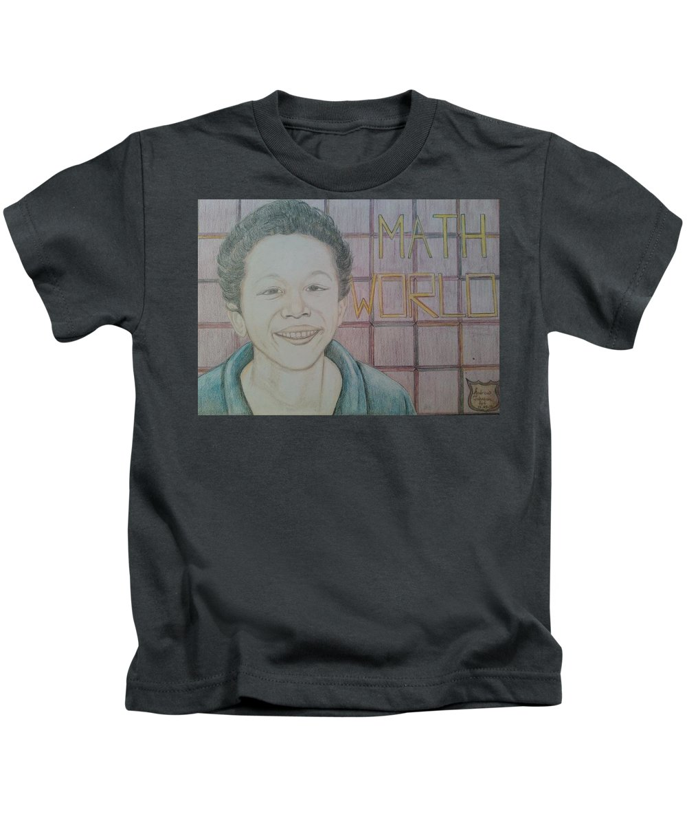 Kids T-Shirt featuring the drawing HJ by Andrew Johnson