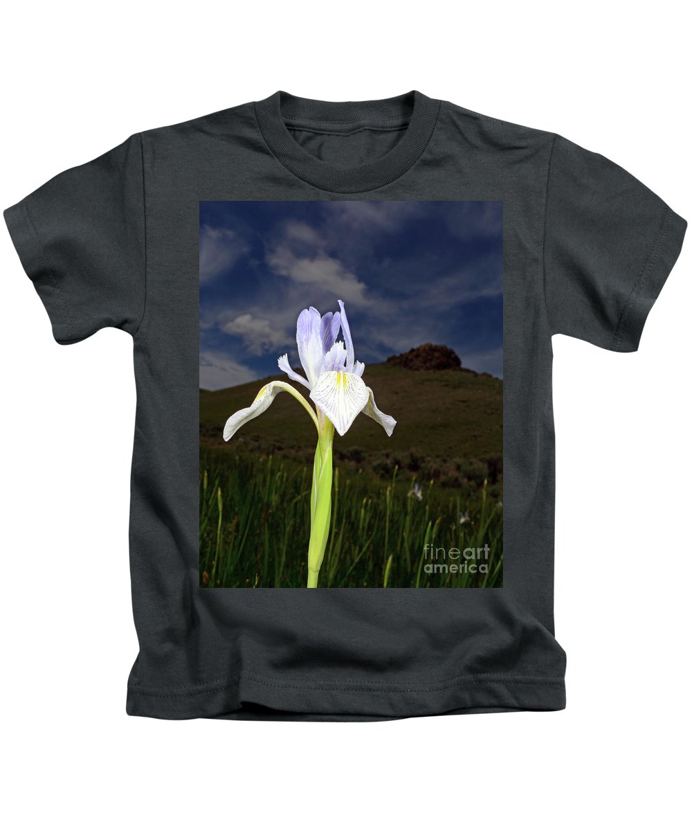 Iris Kids T-Shirt featuring the photograph Iris by Brad Christensen