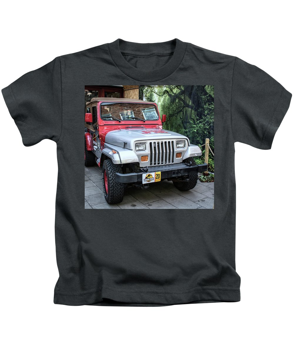 Car Kids T-Shirt featuring the photograph Jurassic by Martin Newman