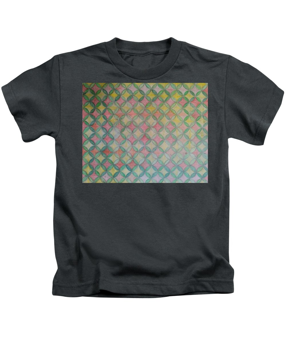 Kids T-Shirt featuring the drawing Life Flower by Andrew Johnson