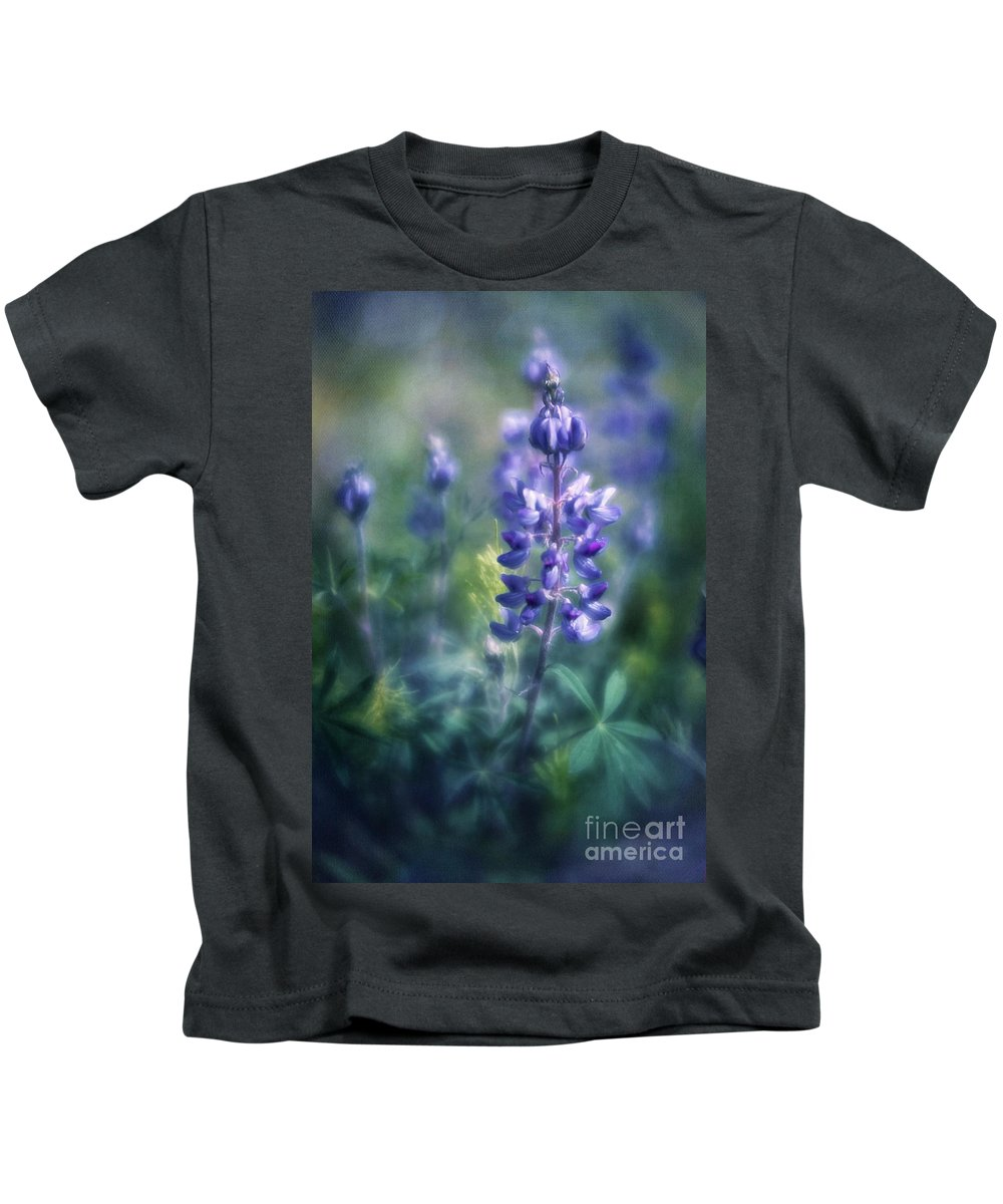 Blues Kids T-Shirt featuring the photograph Lupine Blues by Priska Wettstein
