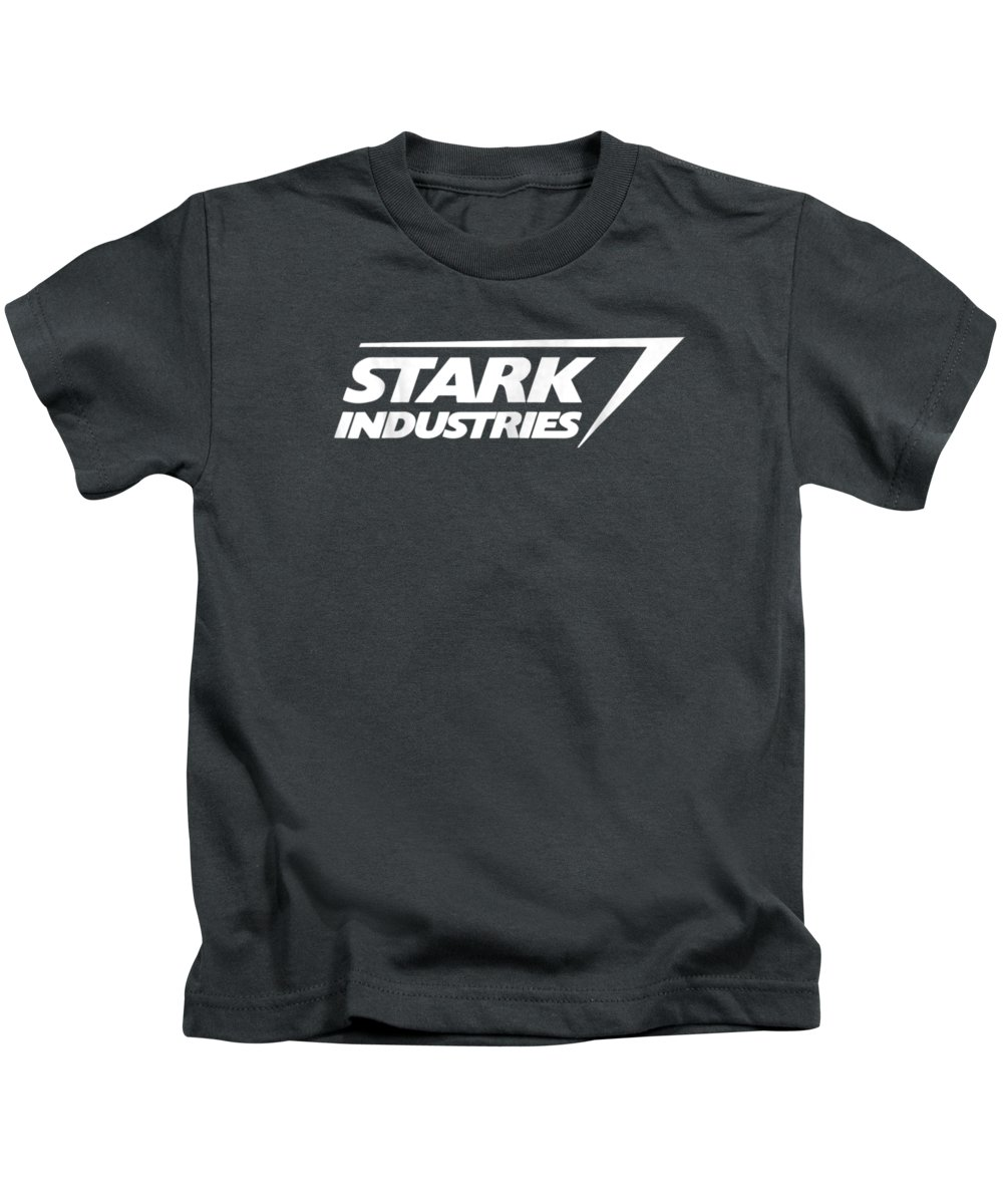 girls' Novelty T-shirts Kids T-Shirt featuring the digital art Marvel Iron Man Stark Industries Logo Graphic T-shirt by Unique Tees