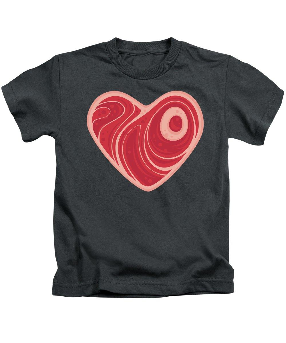 Meat Kids T-Shirt featuring the digital art Meat Heart by John Schwegel