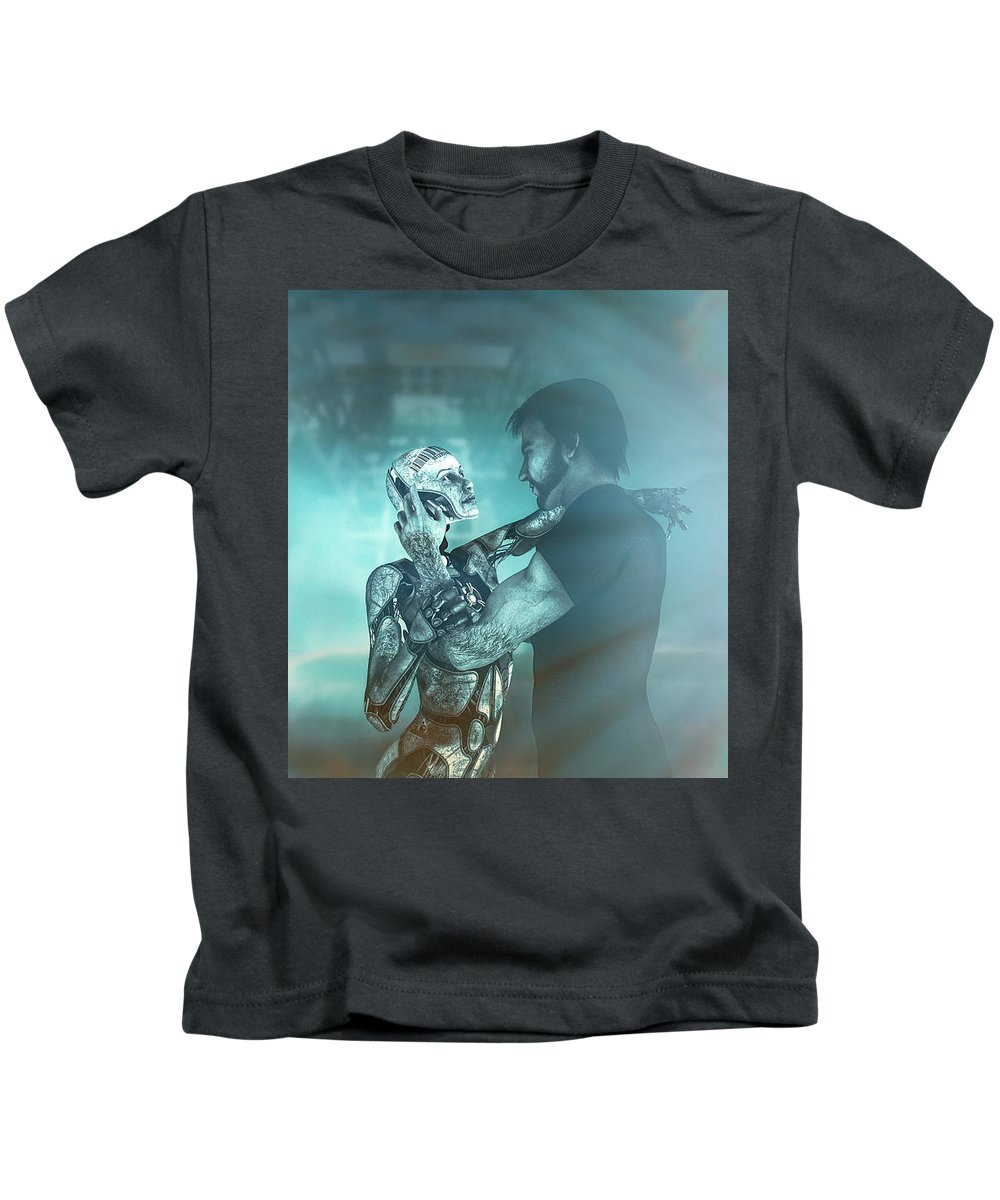 Android Kids T-Shirt featuring the digital art Metropolis Revisited by Bob Orsillo