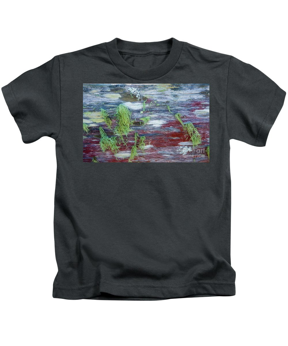 Moss Kids T-Shirt featuring the photograph Moss on old fence by Sheila Smart Fine Art Photography