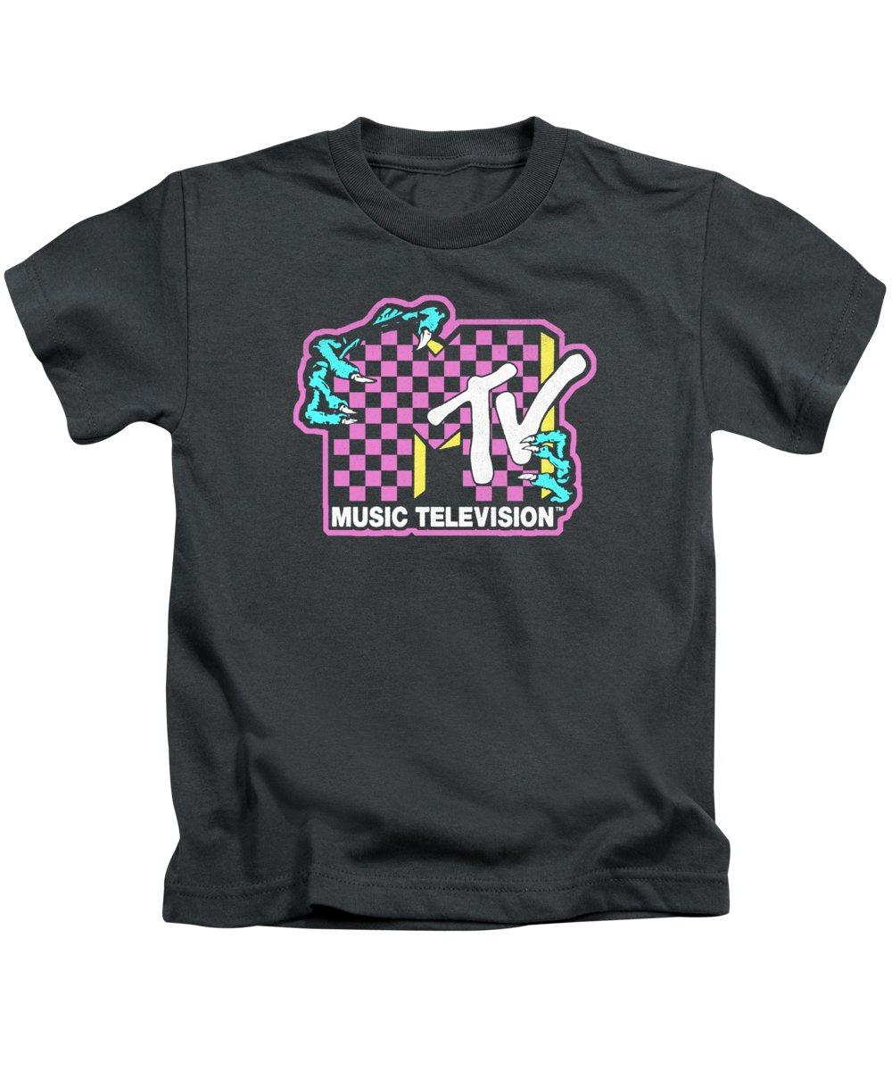 men's Novelty Hoodies Kids T-Shirt featuring the digital art Mtv Checkered Monster Hand Logo Hoodie by Do David