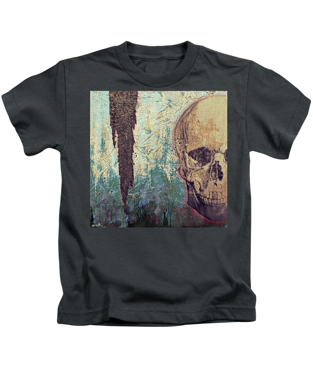 Pop Art Kids T-Shirt featuring the painting Playing Pretend Version by Bobby Zeik