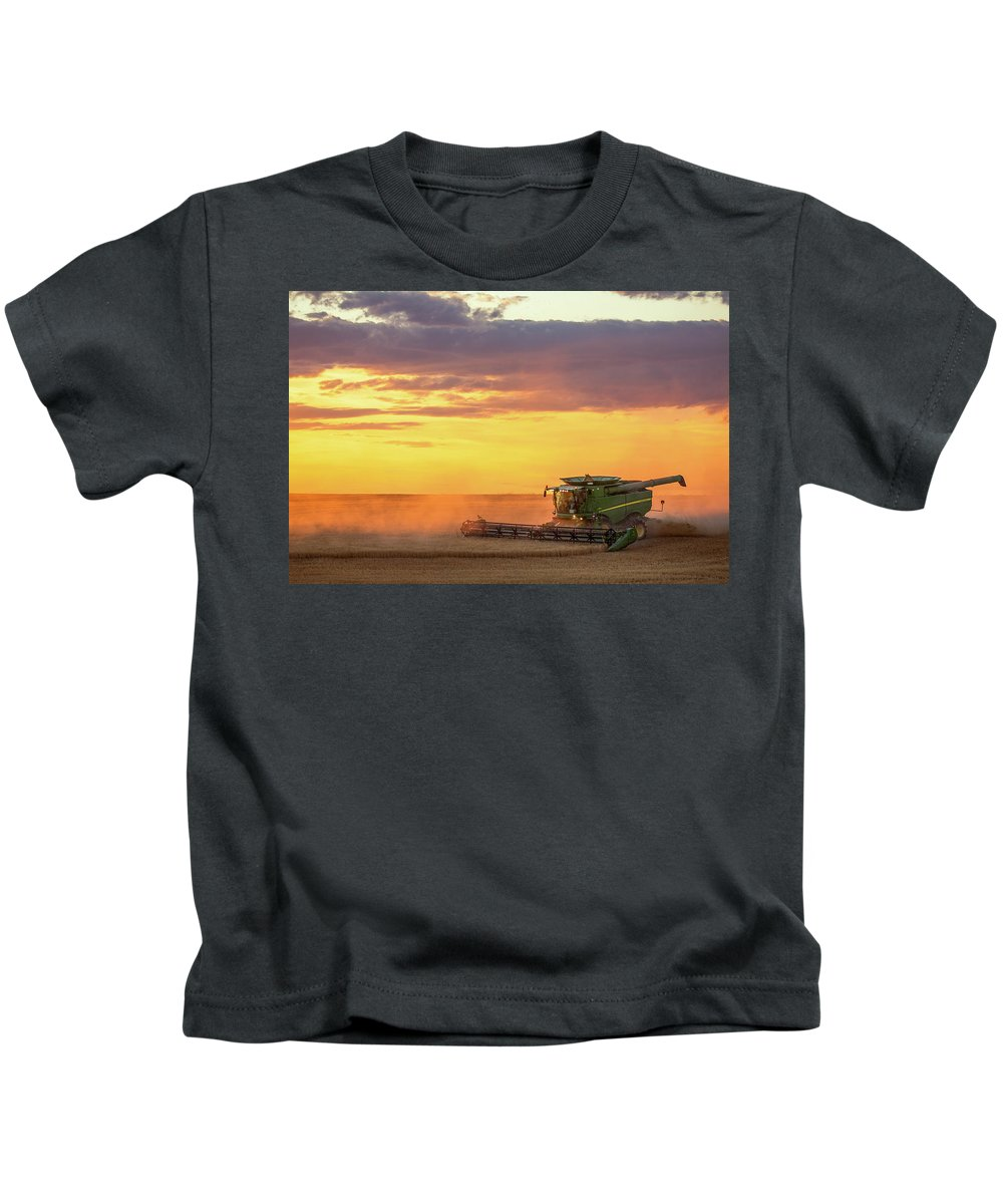 Combine Kids T-Shirt featuring the photograph Purple And Orange by Todd Klassy
