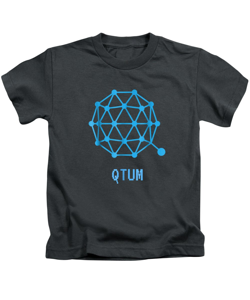men's Novelty T-shirts Kids T-Shirt featuring the digital art Qtum Cryptocurrency Crypto Tee Shirt by Unique Tees