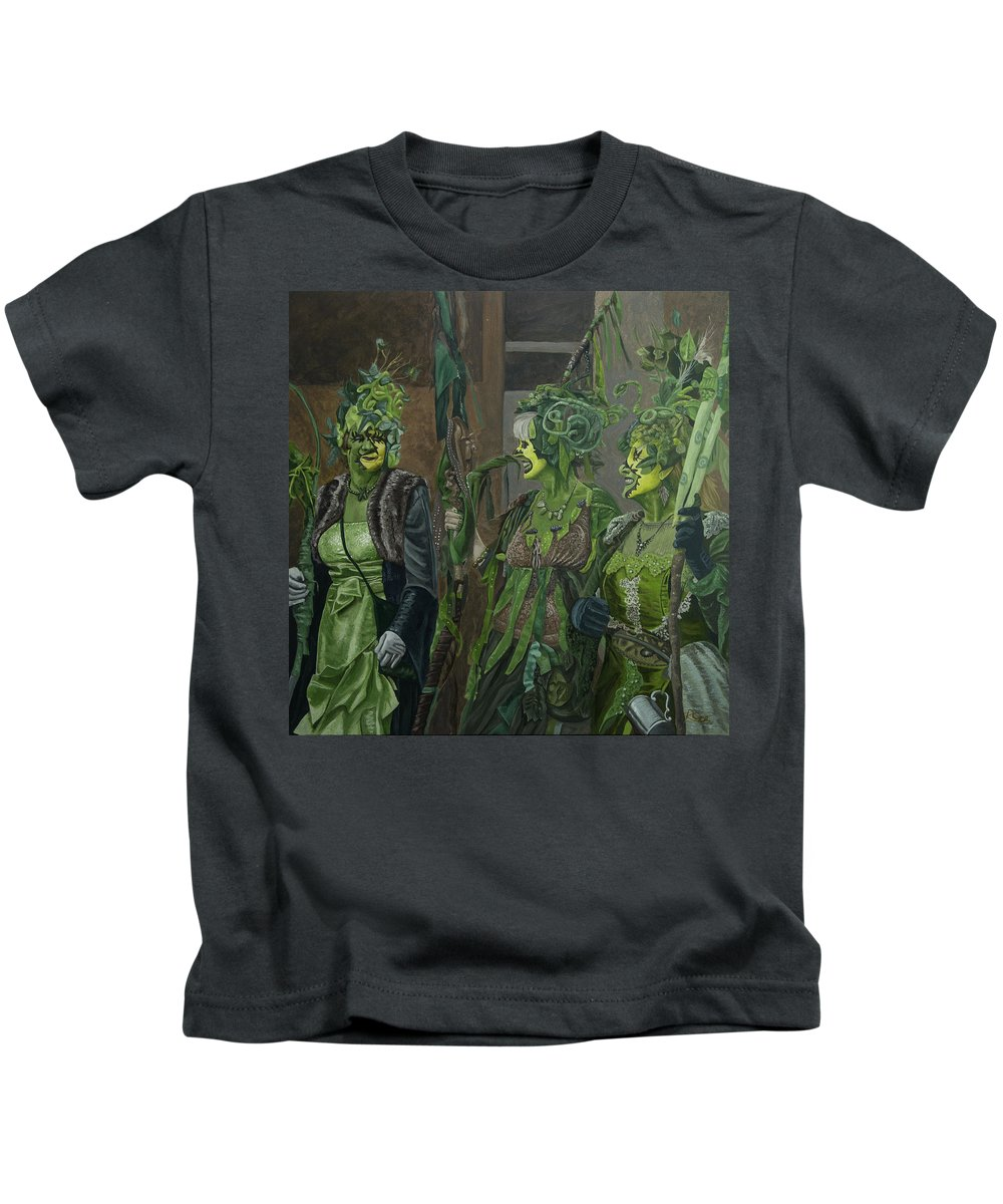 Rattlebag Kids T-Shirt featuring the painting Rattlebag Hastings by Raymond Ore