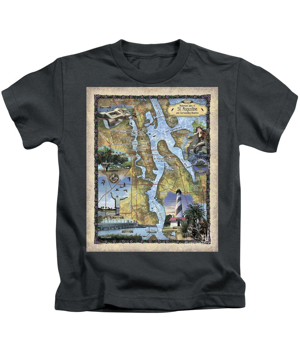 St. Augustine Kids T-Shirt featuring the painting St. Augustine by Lisa Middleton