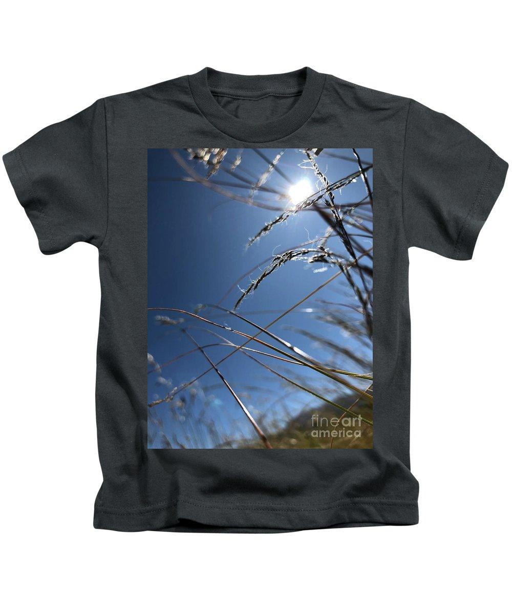 Grass Kids T-Shirt featuring the photograph Sun Grass Dance by Nadine Rippelmeyer