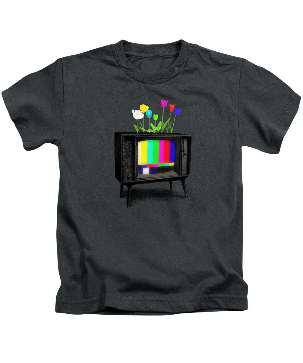 Garden Kids T-Shirt featuring the drawing Test Garden by Eric Fan