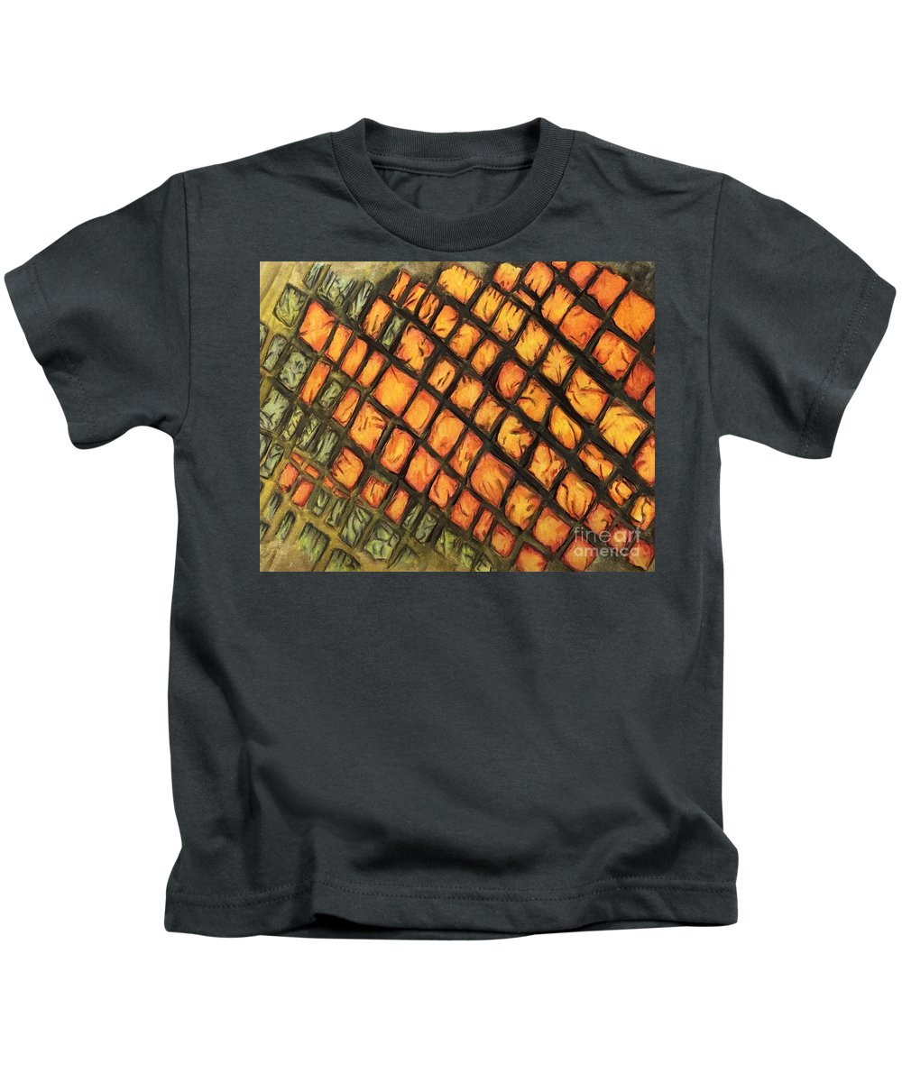 3d Kids T-Shirt featuring the mixed media Trick by Rose Marimon