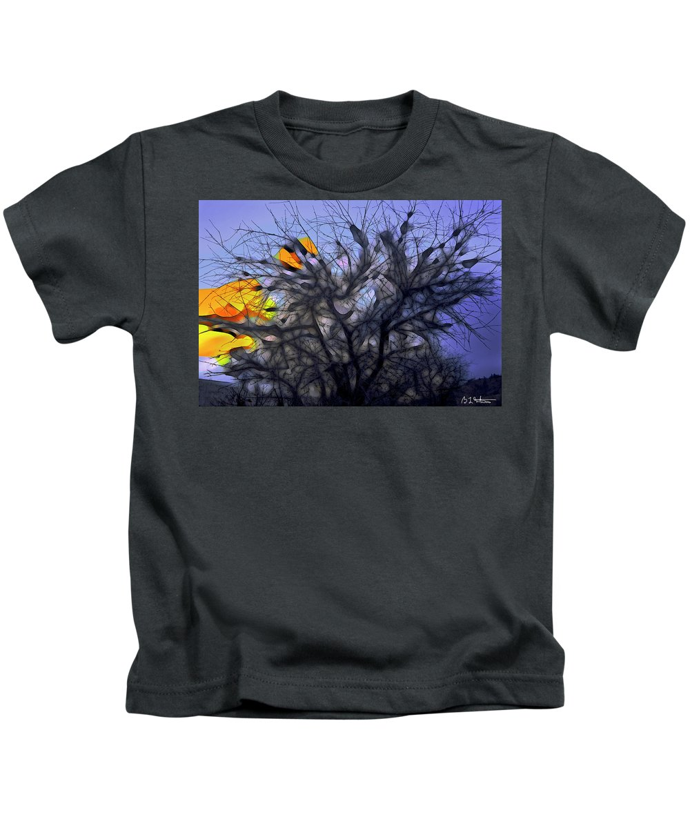 Tree Kids T-Shirt featuring the digital art Wasteway Willow 10 by Bruce Whitaker