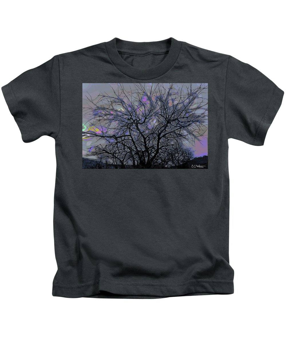 Tree Kids T-Shirt featuring the digital art Wasteway Willow 15 by Bruce Whitaker