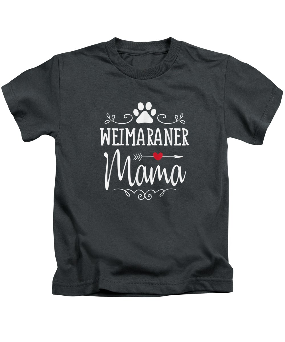 girls' Novelty T-shirts Kids T-Shirt featuring the digital art Weimaraner Mama Funny Weimaraner Lover Shirt Gift by Do David