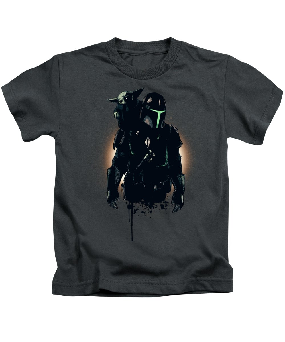 Sith Kids T-Shirt featuring the drawing Asset Acquired by Ludwig Van Bacon