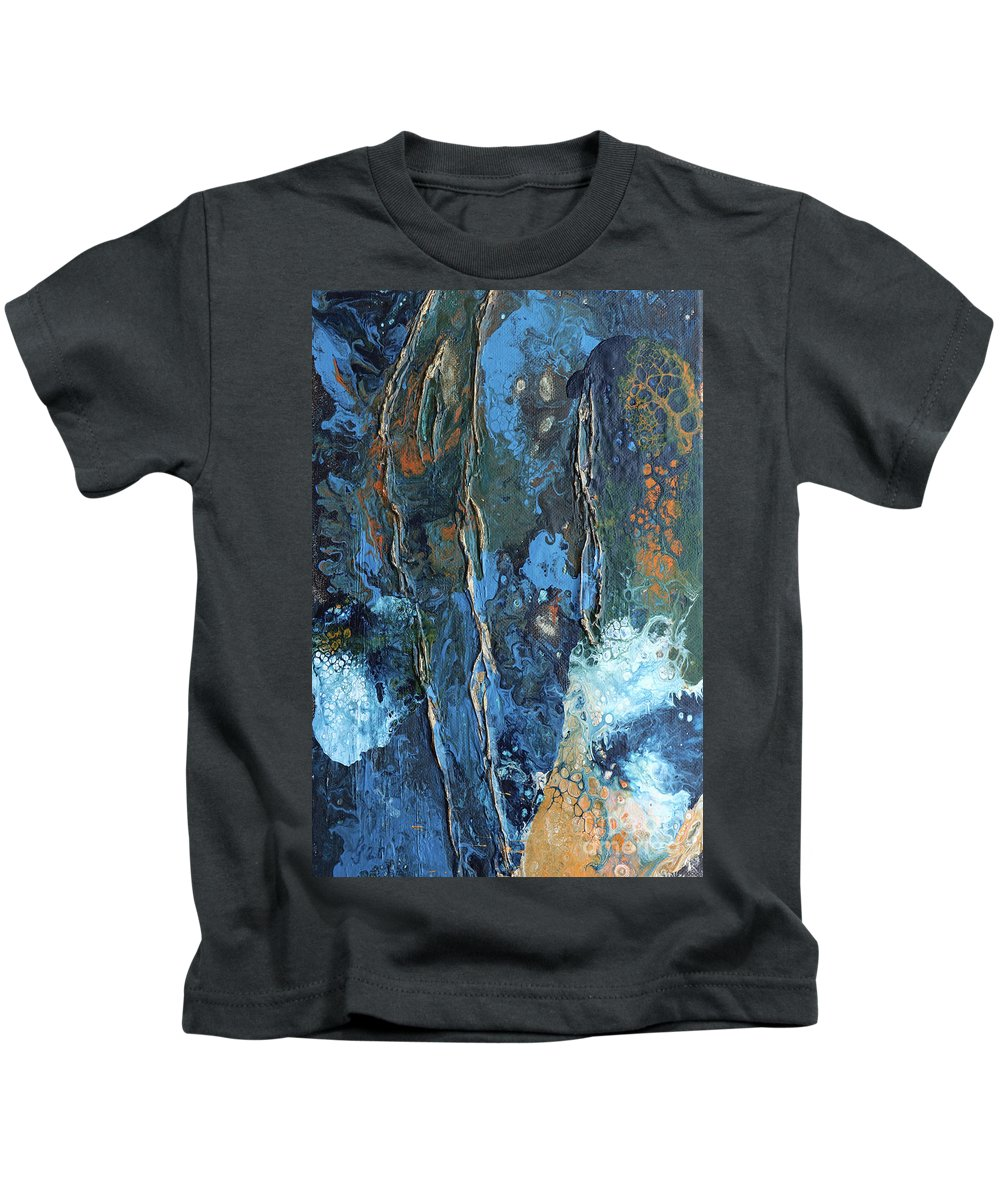 White Kids T-Shirt featuring the painting At The End Of The Golden Age by Christiane Schulze Art And Photography
