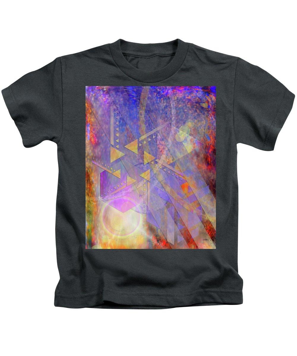 Aurora Aperture Kids T-Shirt featuring the digital art Aurora Aperture by John Robert Beck