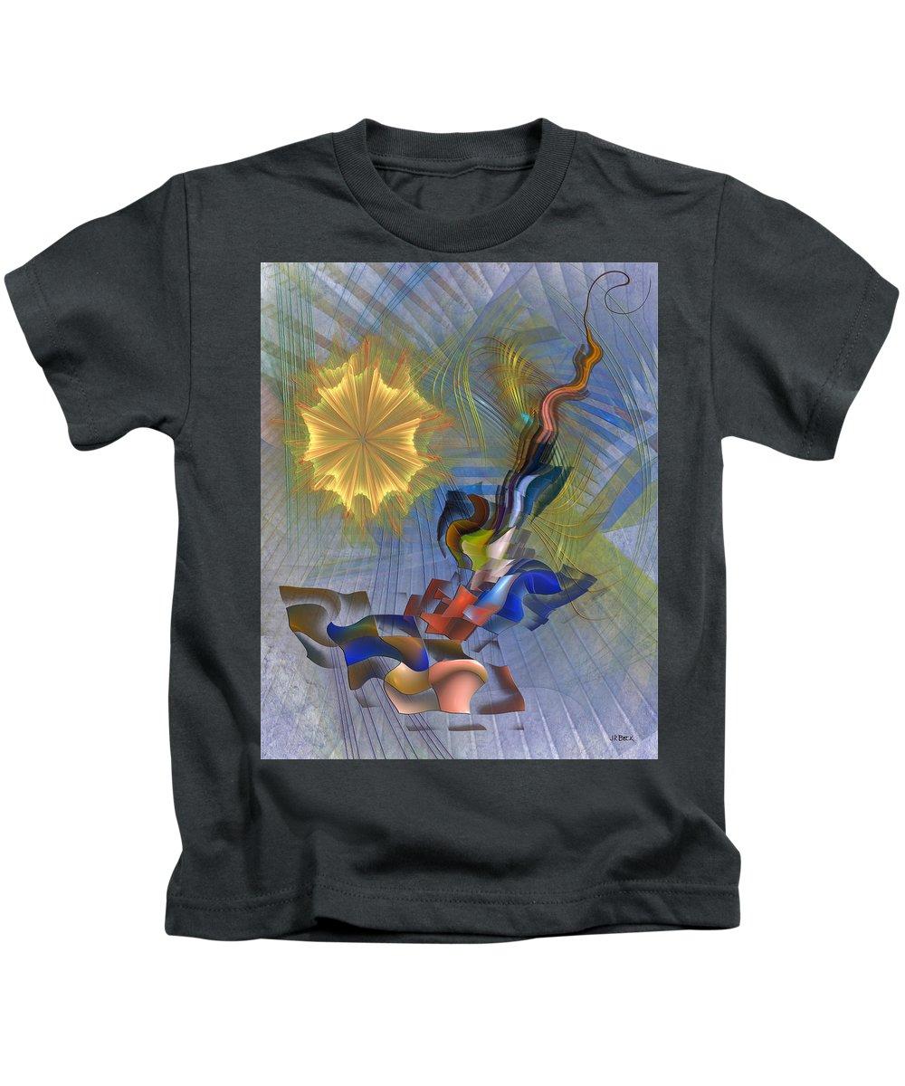 Floral Predator Kids T-Shirt featuring the digital art Floral Predator by John Robert Beck