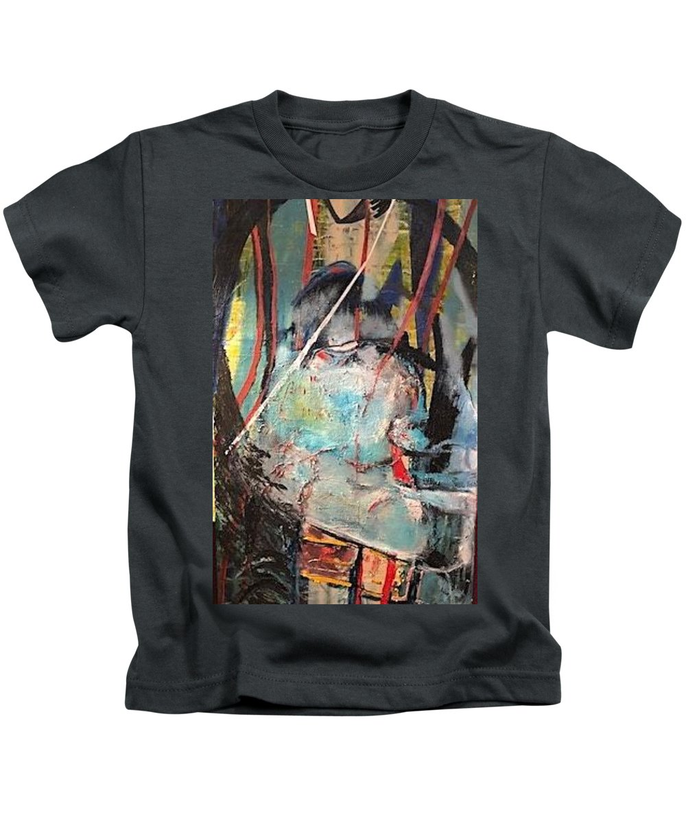 Native American Kids T-Shirt featuring the painting Aiyana by Peggy Blood