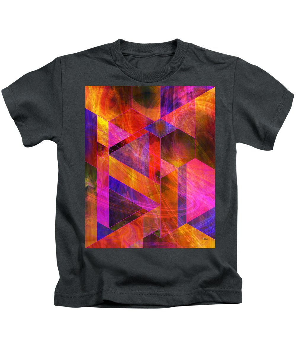 Wild Fire Kids T-Shirt featuring the digital art Wild Fire by John Robert Beck