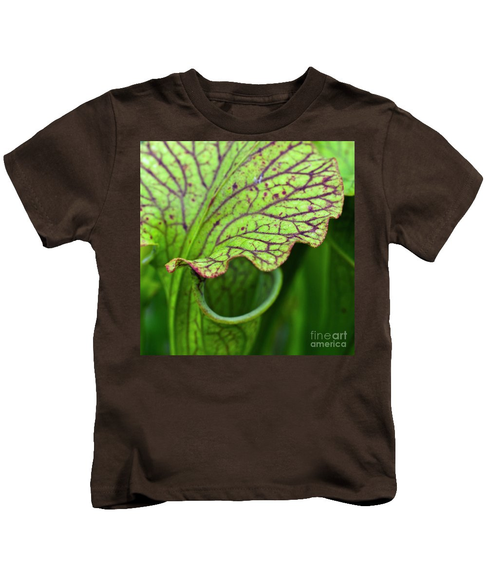 Pitfall Trap Kids T-Shirt featuring the photograph Pitcher Plants by Heiko Koehrer-Wagner