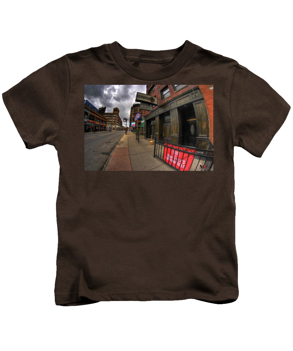 Michael Frank Jr Kids T-Shirt featuring the photograph 0020 Tap House Pub And Grill by Michael Frank Jr