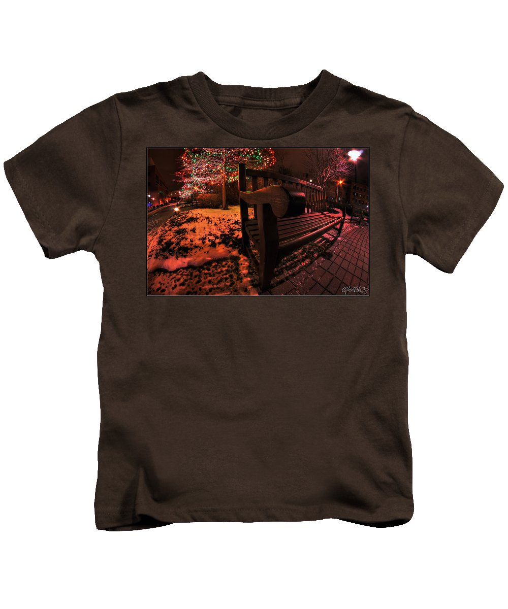 Kids T-Shirt featuring the photograph 003 Christmas Light Show At Roswell Series by Michael Frank Jr