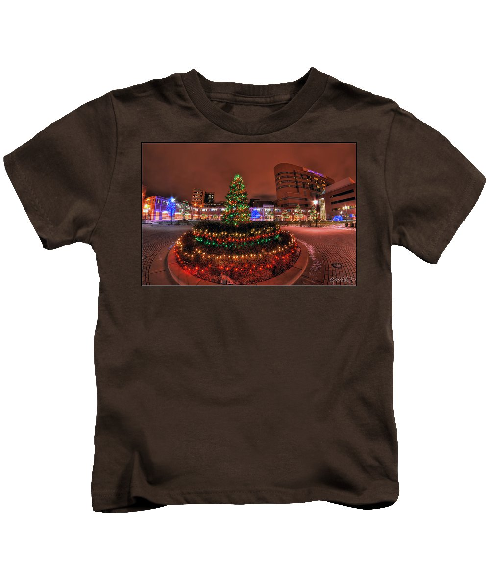 Kids T-Shirt featuring the photograph 004 Christmas Light Show At Roswell Series by Michael Frank Jr