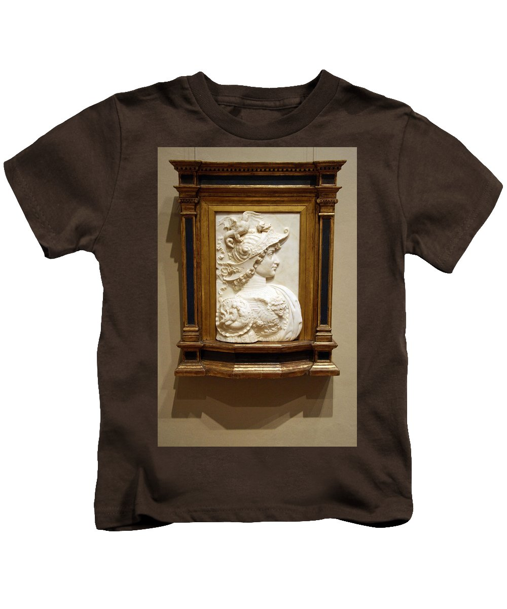 Alexander The Great Kids T-Shirt featuring the photograph Alexander The Great By Andrea Del Verrocchio by Cora Wandel