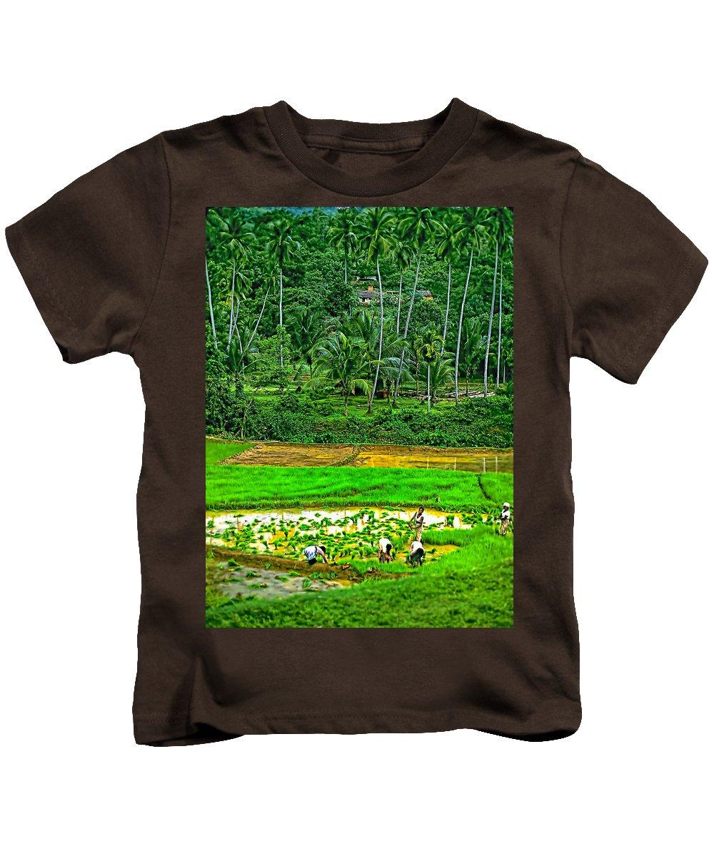 Sri Lanka Kids T-Shirt featuring the photograph Jungle Homestead by Steve Harrington
