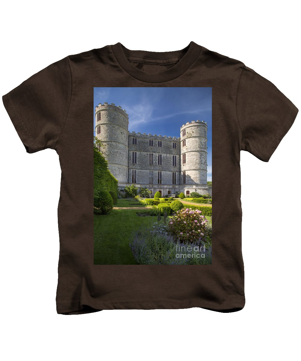 Architectural Kids T-Shirt featuring the photograph Lulworth Castle by Brian Jannsen