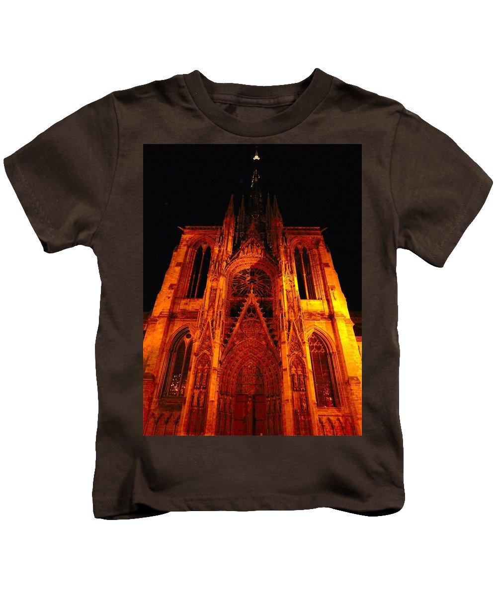 Travel Kids T-Shirt featuring the photograph Rouen Church by Tim G Ross