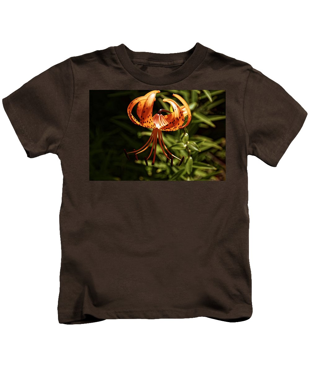 Stars Kids T-Shirt featuring the photograph Tiger Lily by Sherman Perry