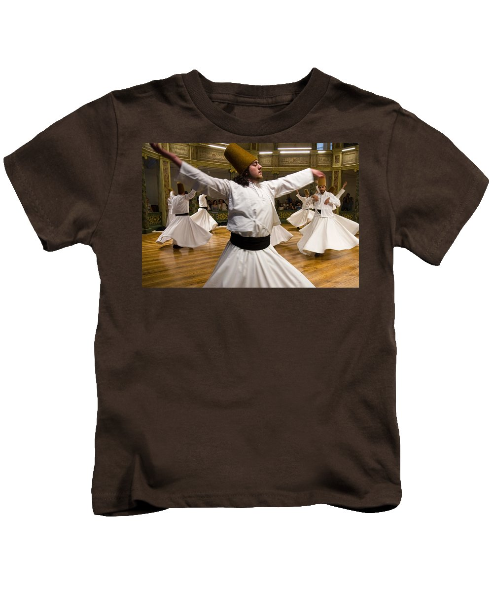Dervishes Kids T-Shirt featuring the photograph Whirling Dervishes by For Ninety One Days