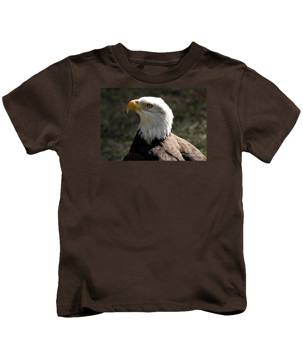 Bald Eagle Kids T-Shirt featuring the photograph Bald Eagle Portrait by Christiane Schulze Art And Photography