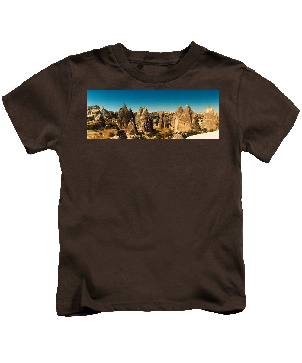 Photography Kids T-Shirt featuring the photograph Landscape With The Caves And Fairy by Panoramic Images